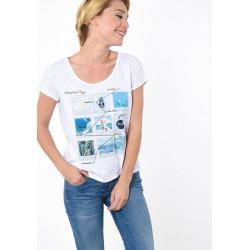 Tee-shirt manches courtes pour femme Kaporal NOVA WHITE