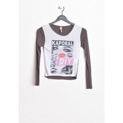 T-shirt manches longues enfant Kaporal PRIZE DARK