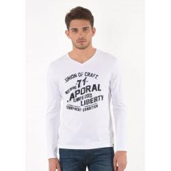 T-shirt manches longues homme Kaporal MARK WHITE