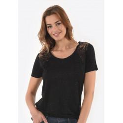T-shirt manches courtes femme Kaporal SARAH BLAC
