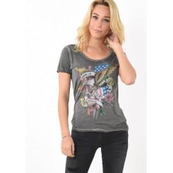 T-shirt manches courtes femme Kaporal FOLIO BLAC