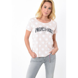 T-shirt manches courtes femme Kaporal ALI PINK