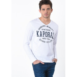 T-shirt manches longues homme Kaporal TARZU WHIT