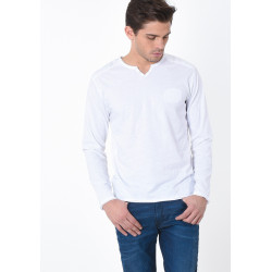 T-shirt manches longues homme Kaporal TING WHITE