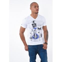 T-shirt manches courtes homme Kaporal CAGOL WHIT