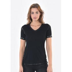 T-shirt manches courtes femme Kaporal SAMAR BLAC