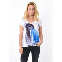 T-shirt manches courtes femme Kaporal ANOYE WHIT