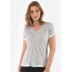 T-shirt manches courtes femme Kaporal SAMAR GREY