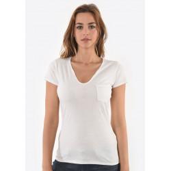 T-shirt manches courtes femme Kaporal SALUD WHIT