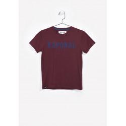T-shirt manches courtes enfant Kaporal NUDO WINE