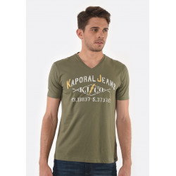 T-shirt manches courtes homme Kaporal MAKAO ARMY
