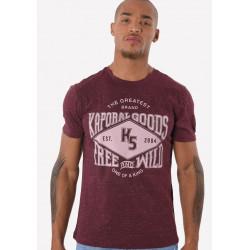 T-shirt manches courtes homme Kaporal JUNK WINEM