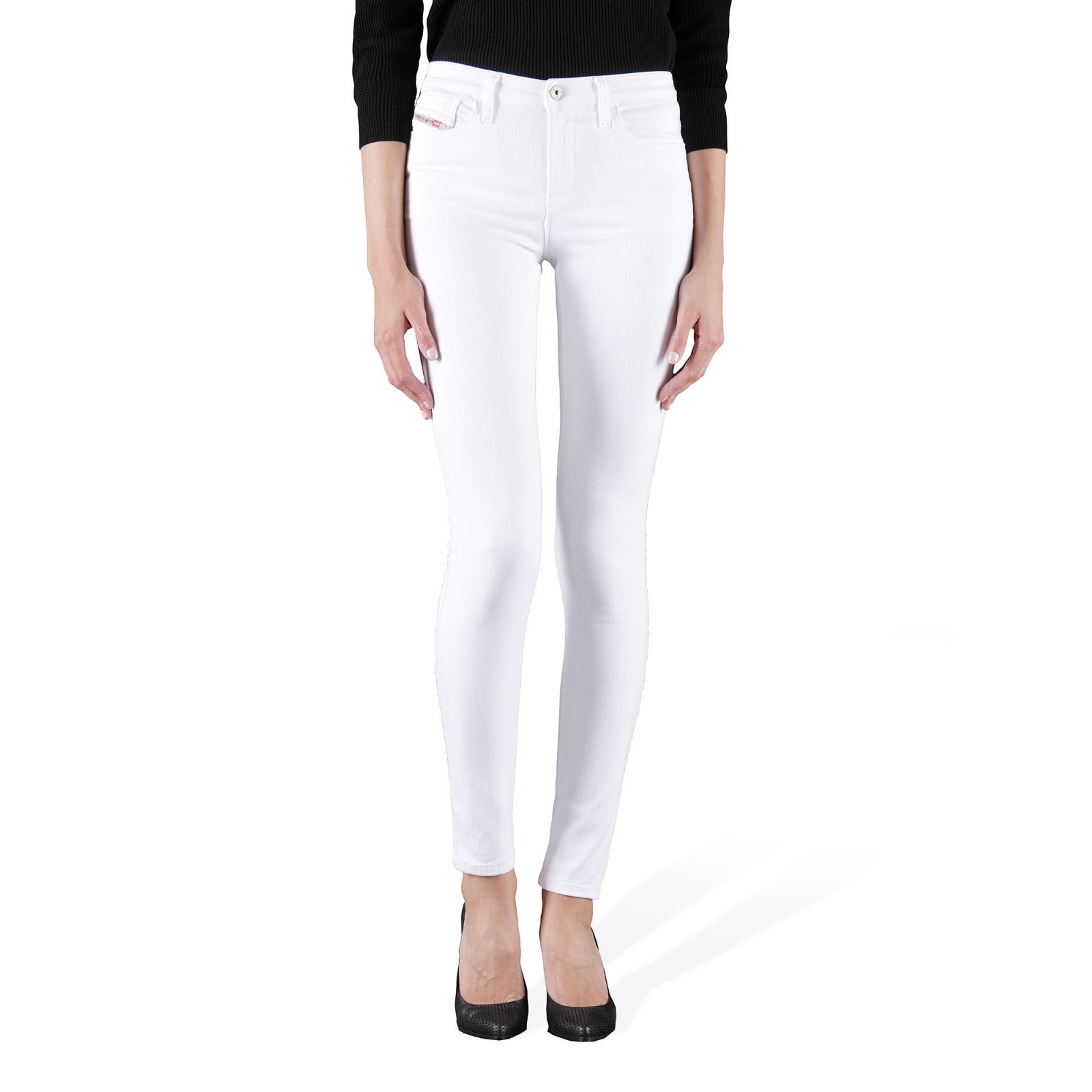 pantalon diesel skinze851w blanc habiz. Black Bedroom Furniture Sets. Home Design Ideas
