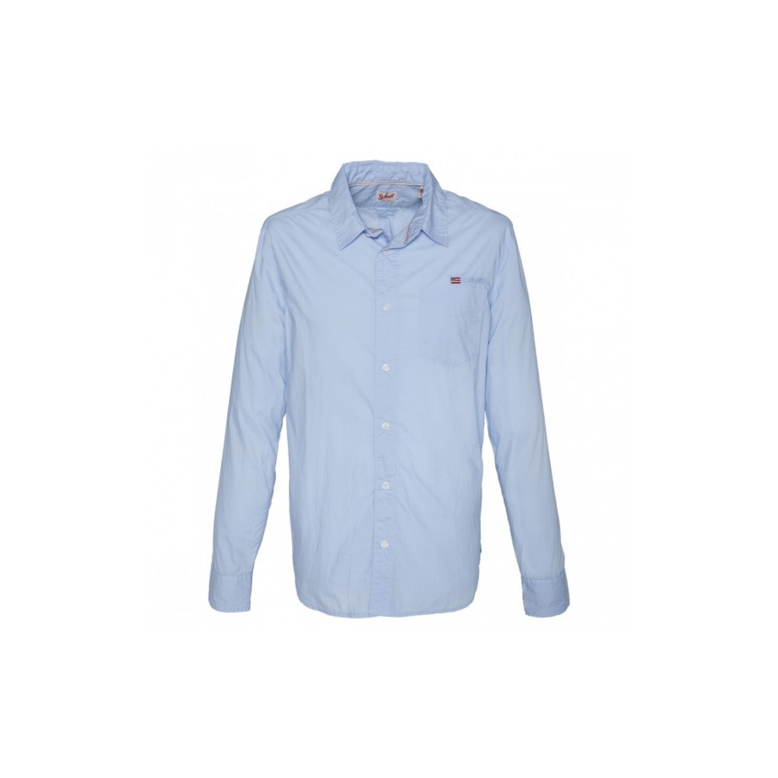 chemise manches longues homme schott shstamford bleu ciel habiz. Black Bedroom Furniture Sets. Home Design Ideas